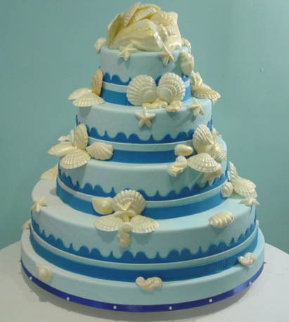 blue, Seashell, Wedding cakes online