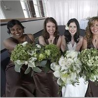Flowers & Decor, Bridesmaids, Bridesmaids Dresses, Fashion, brown, Bridesmaid Bouquets, Flowers, Flower Wedding Dresses