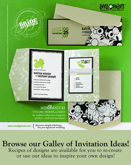 Stationery, Invitations, Custom, Pocket, Envelopments, Fold, Custom programs