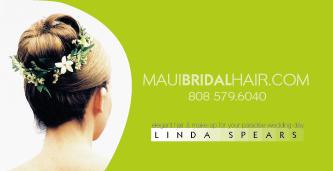 Maui bridal hair