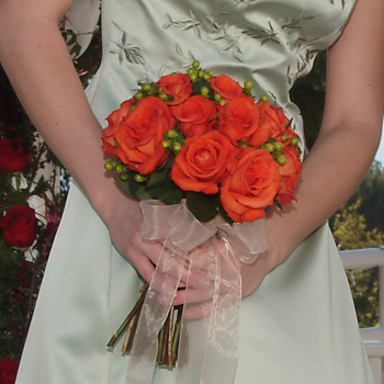 orange, Bouquet, Rose, Masseys house of flowers