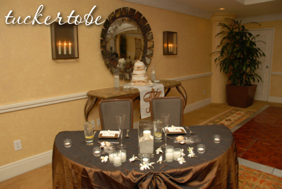Reception, Flowers & Decor, Sweetheart table, Chocolate pintuck