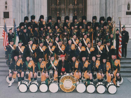 Pipes drums of the emerald society nypd