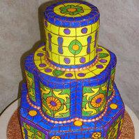 Cakes, yellow, blue, cake, Carloss bakery