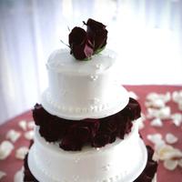 Cakes, white, cake, Roses, Lemon