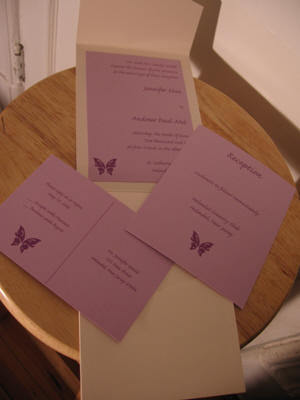 Stationery, purple, Invitations, Made by alicia