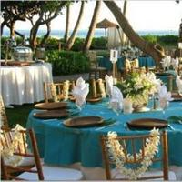 Reception, Flowers & Decor, blue, Beach, Beach Wedding Flowers & Decor, Tropical, Seashell, Aqua