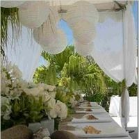 Reception, Flowers & Decor, Beach, Beach Wedding Flowers & Decor, Burlap, Seashell