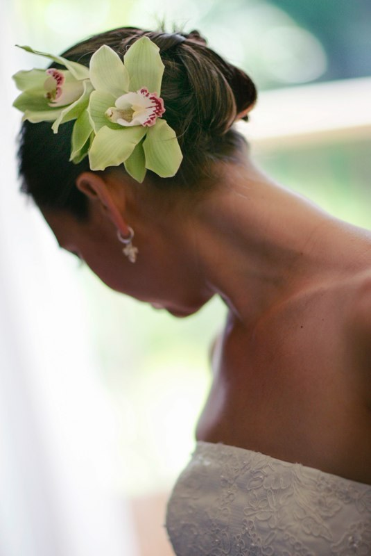 Beauty, Bride, Hair, Orchids