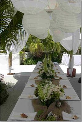 Centerpieces, Beach Wedding Flowers & Decor