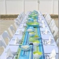 Reception, Flowers & Decor, blue, green, Beach, Beach Wedding Flowers & Decor, Aqua