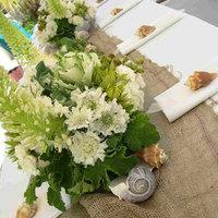 Reception, Flowers & Decor, Beach, Beach Wedding Flowers & Decor, Burlap, Seashell