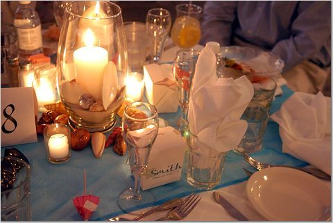 Reception, Flowers & Decor, blue, Beach, Beach Wedding Flowers & Decor, Aqua