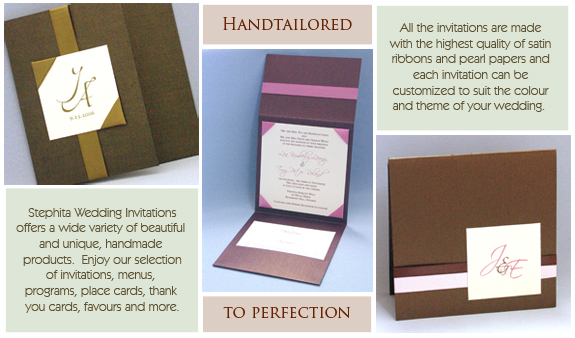 Stationery, invitation, Invitations, And, Ribbon, With, To, All, Ink, Be, Customized, Fonts, Colours, Folder, Stephita wedding invitations