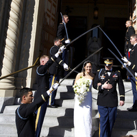 Ceremony, Flowers & Decor, Ceremony Flowers, Flowers, Wedding, Church, Arch, Couples, Military, Saber