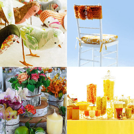yellow, orange, Vintage, Inspiration board