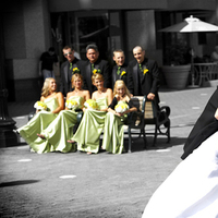 Bridesmaids, Bridesmaids Dresses, Wedding Dresses, Veils, Fashion, dress, Groomsmen, Bride, Groom, Veil, Kiss, Dip, Couple, Portraiture