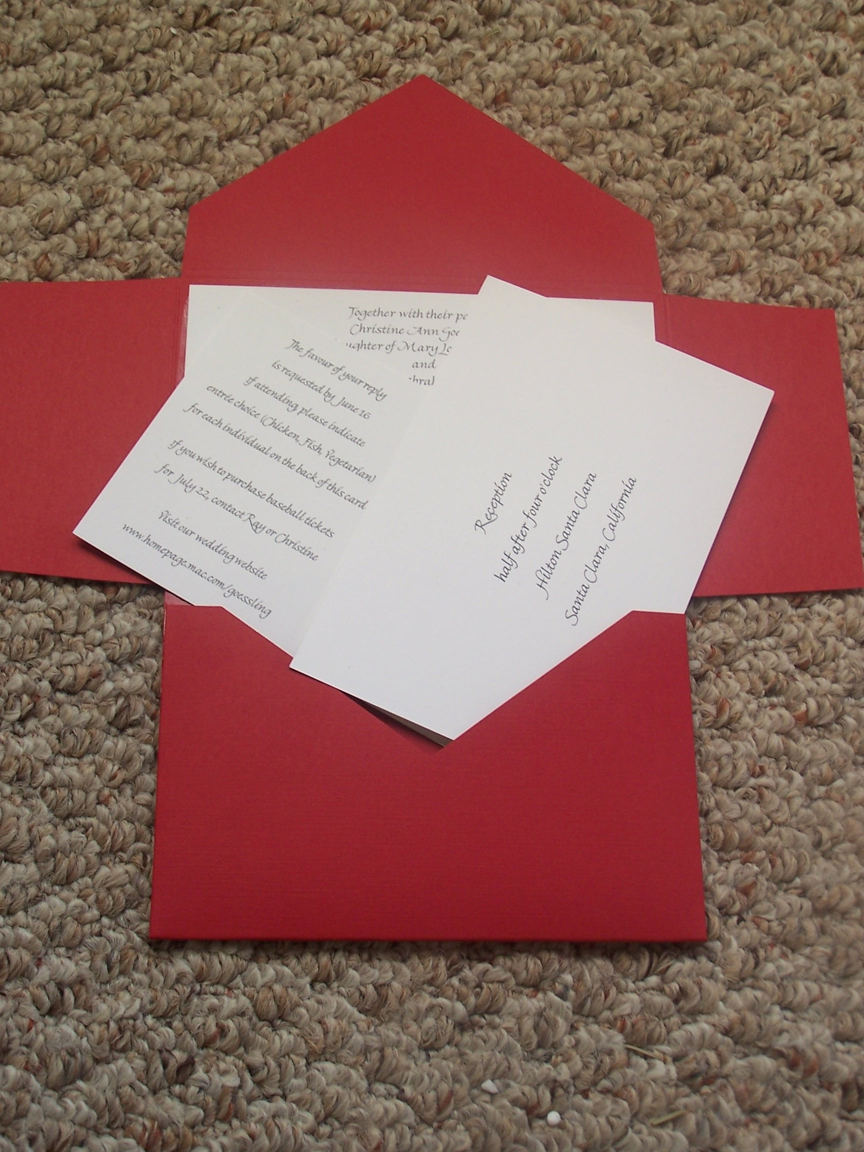 Stationery, red, Invitations, Pocketfold