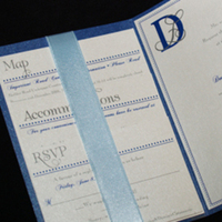 Stationery, blue, Invitations, Serendipity design
