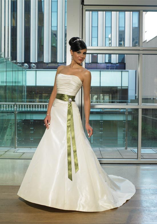 Wedding Dresses, Fashion, green, dress, Wedding, Strapless, Strapless Wedding Dresses, Sash, Maggie Sottero