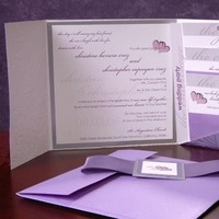 Stationery, purple, Invitations, Marivics card company