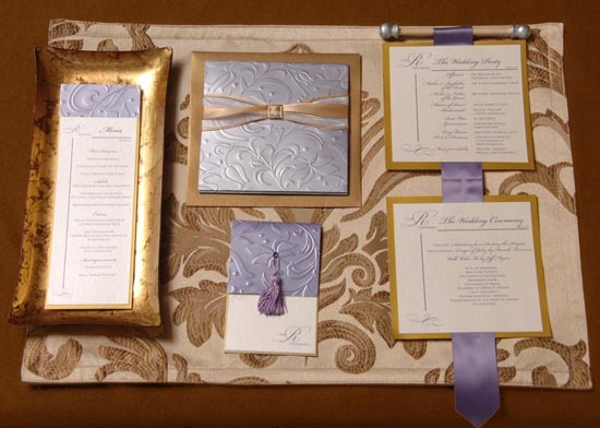 Stationery, blue, gold, Invitations, Marivics card company