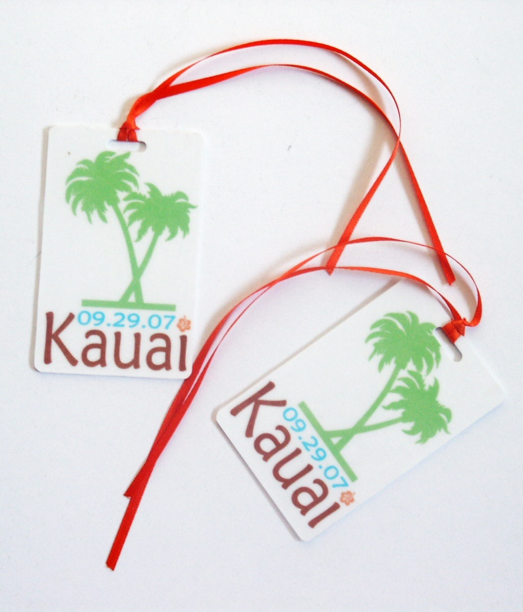 DIY, Favors & Gifts, Favors, Luggage, Tags