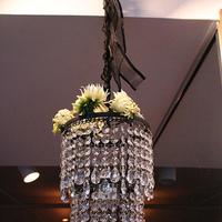 Ceremony, Reception, Flowers & Decor, Decor, green, Ceremony Flowers, Modern, Flowers, Modern Wedding Flowers & Decor, Black and white, La partie events, Chandelier