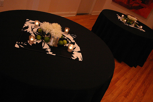 Reception, Flowers & Decor, Decor, green, Centerpieces, Modern, Flowers, Modern Wedding Flowers & Decor, Centerpiece, Black and white, La partie events