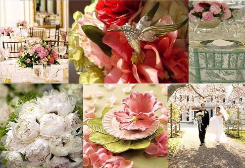 Flowers & Decor, pink, green, Flowers, Inspiration board