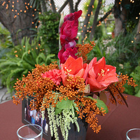 Reception, Flowers & Decor, Decor, orange, pink, purple, Bride Bouquets, Bridesmaid Bouquets, Boutonnieres, Centerpieces, Fall, Flowers, Fall Wedding Flowers & Decor, Bouquet, Centerpiece, Bridesmaid, Bridal, Candle, Colorful, Boutonniere, La partie events, Burnt, Dark, Hidden chateau and gardens, Artichoke