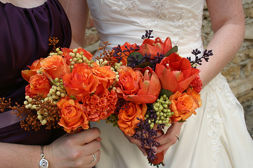 Bride Bouquets, Bridesmaid Bouquets, Fall Wedding Flowers & Decor