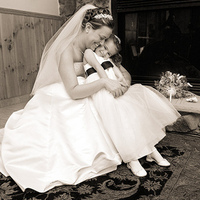 Photography, Bride, Flower girl, Hug, Ryan brenizer photography, Ryan brenizer, Photojournalism, Candid