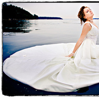 Photography, Bride, Portrait, Bridal, Water, Trash the dress, Ryan brenizer photography, Ryan brenizer