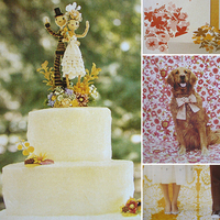 Cakes, yellow, red, cake, Topper, Inspiration board
