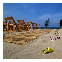 Ceremony, Flowers & Decor, Beach, Beach Wedding Flowers & Decor, Ocean