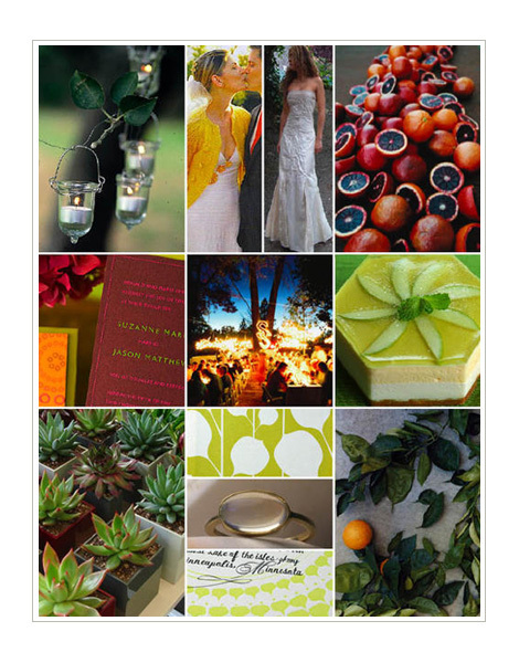 orange, green, Inspiration board