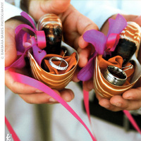 Ceremony, Flowers & Decor, Beach, Beach Wedding Flowers & Decor, Ring pillow