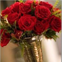 Flowers & Decor, red, silver, Flowers