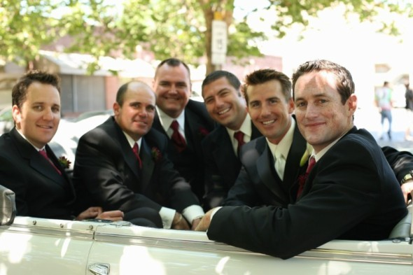 Groomsmen, Before ceremony