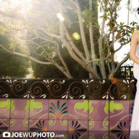 Beauty, Wedding Dresses, Fashion, white, purple, dress, Makeup, Bride, Hair, Joe wu photo