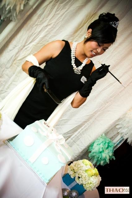 Bridal, Makeuphair, Theme, At, Viviantrancom, Shower, Allmadeupus, Audrey, Cordinator, Hepburn, Breakfast, Tiffanys