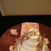 Cakes, pink, brown, cake, Cherry, Blossoms