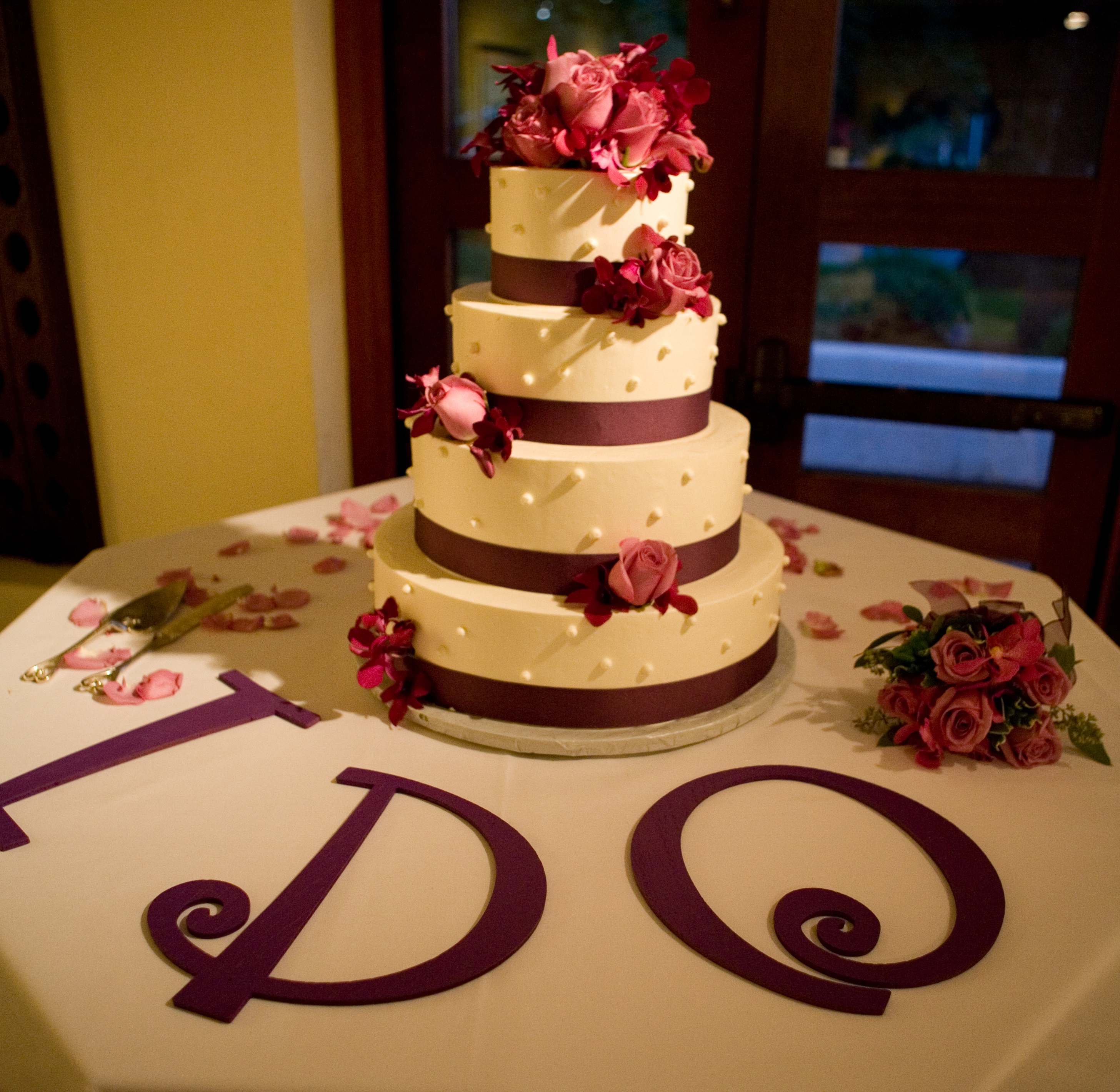 Cakes, cake, Floral Wedding Cakes, Ribbon Wedding Cakes, Rebecca wilkowski photography
