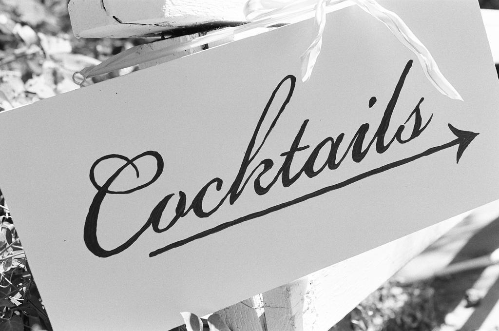 Reception, Flowers & Decor, Sign, Cocktails