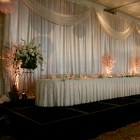 Reception, Flowers & Decor, pink, brown, Table, Head