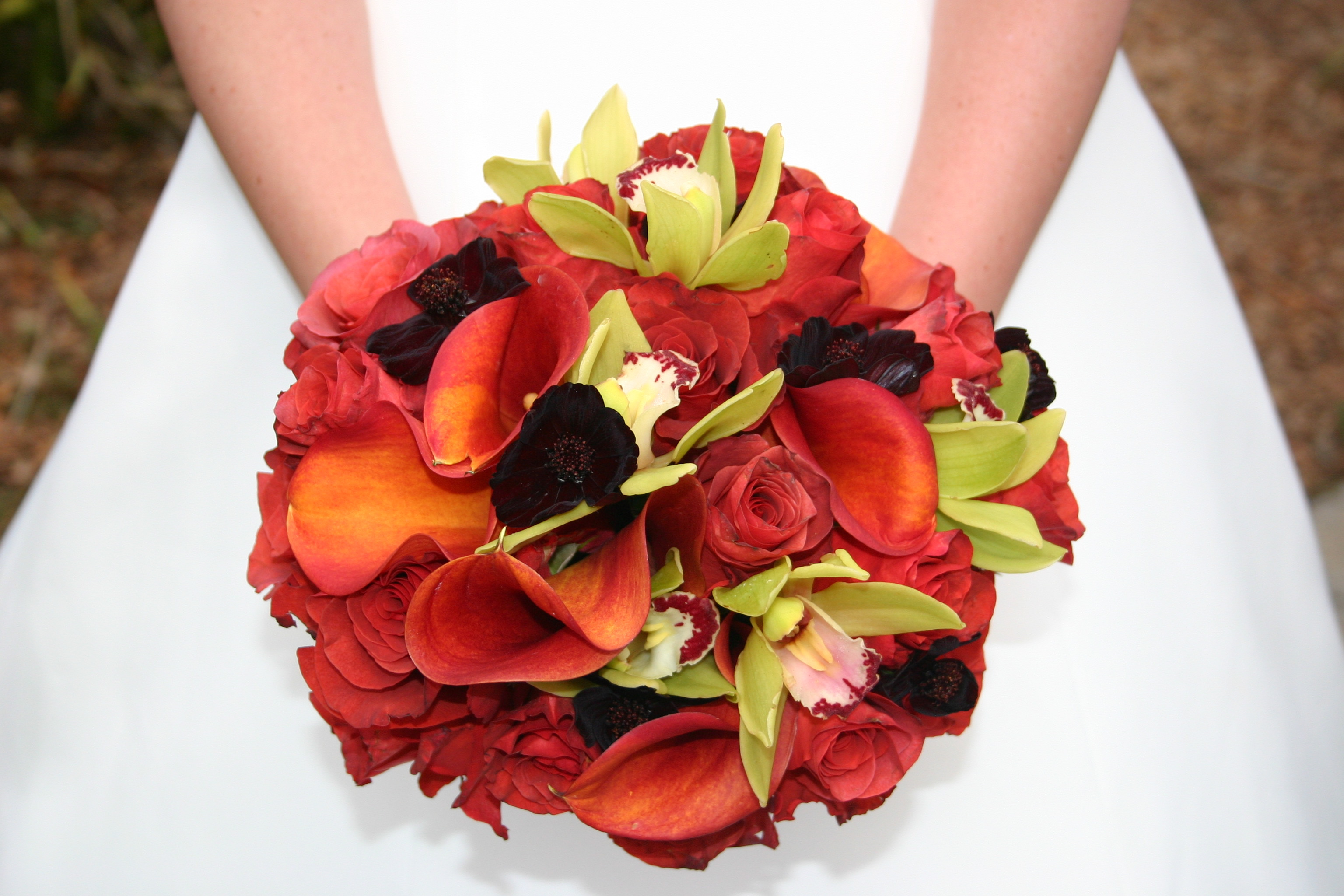 Flowers & Decor, Decor, orange, green, Bride Bouquets, Fall, Flowers, Fall Wedding Flowers & Decor, Roses, Bouquet, Orchid, Floral, Orchids, Colors, Rose, Apples, Hydrangea, Lily, La partie events, Burnt, Cala, Apple, Florist, Pomegranate, Calalily, Calalilies, Terracotta