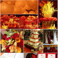yellow, red, gold, Inspiration board