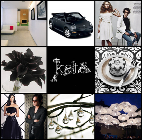 white, black, Inspiration board