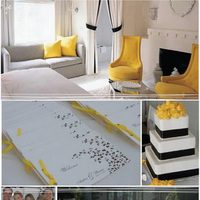 yellow, black, Inspiration board